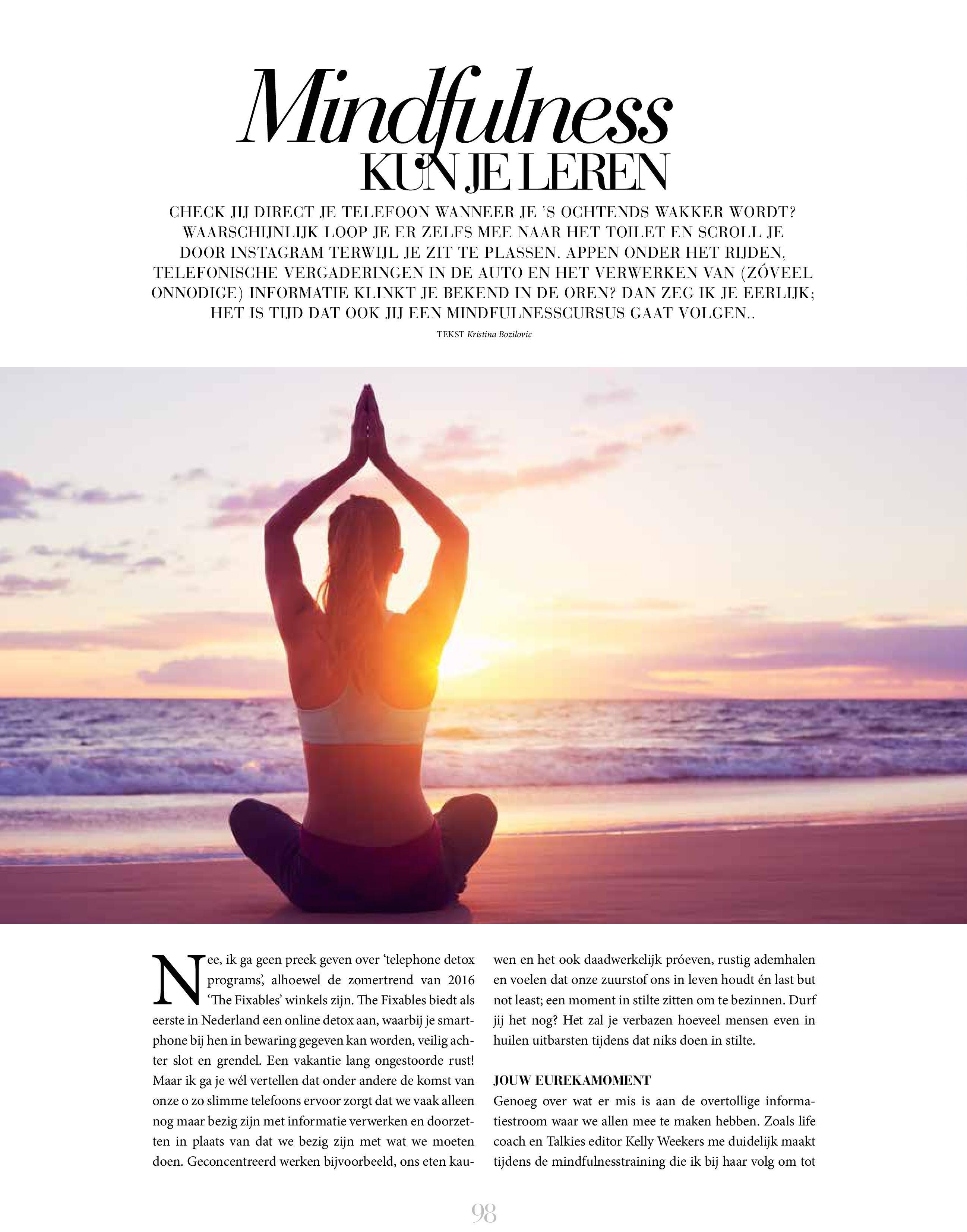Mindfulness is gezond verstand!