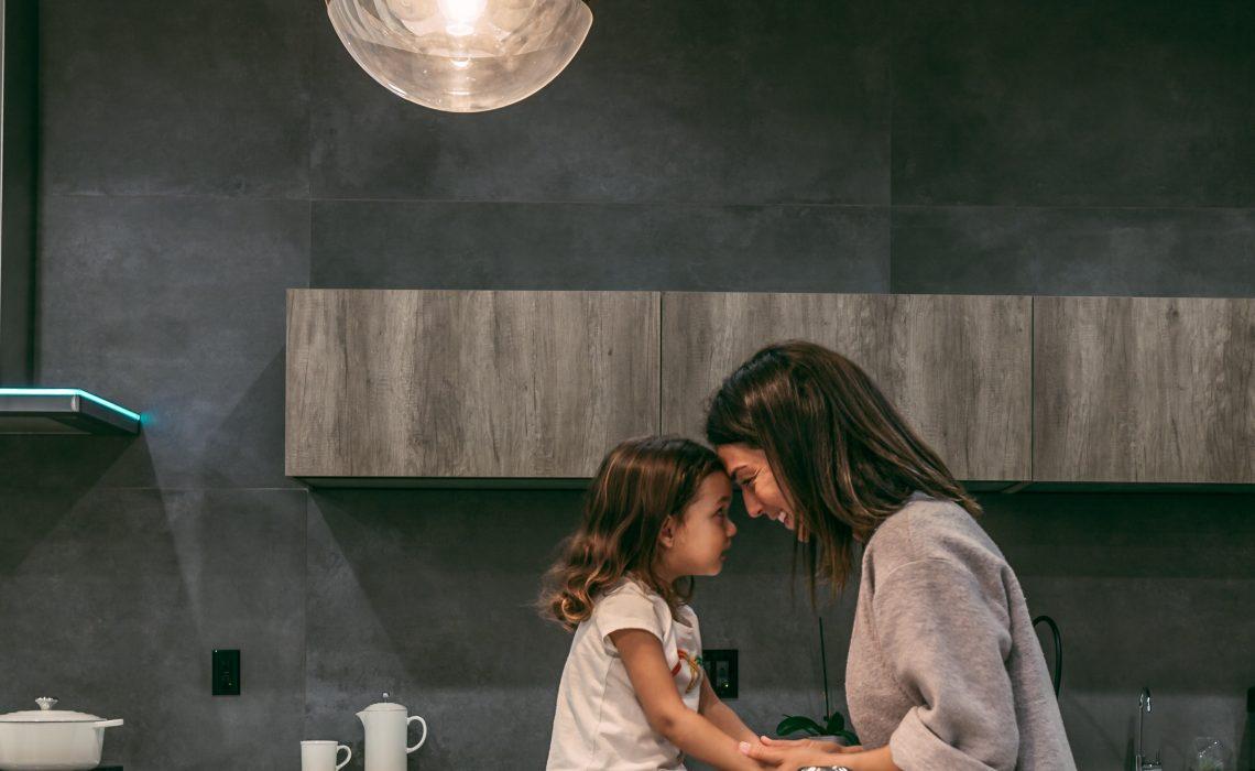 balans met druk gezin